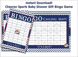 30 baby shower bingo cards baseball red and navy blue diy