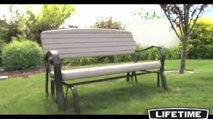lifetime glider bench simulated polyethylene furniture review