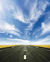 beautiful road to nowhere spring horizon u2014 stock photo