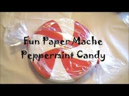 Fake Lollipop Decorations Diy Giant Paper Mache Peppermint Candy Youtube