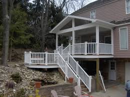 covered deck designs back porch and trex octagon deck covered