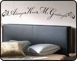 Removable Wall Decals For Bedroom Always Kiss Me Goodnight Wall Decal Sticker Art Romantic