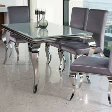 innovative decoration chrome dining table super cool louis