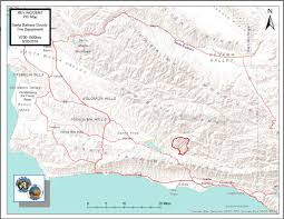 Santa Barbara California Map Rey Fire Information