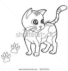 tabby cat coloring pages kittens play a gray orange tabby striped stock illustration