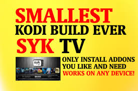 the smallest kodi build ever syk tv kodi build install only