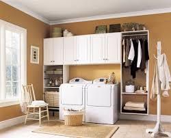modern laundry room design with minimalist utility room cabinets