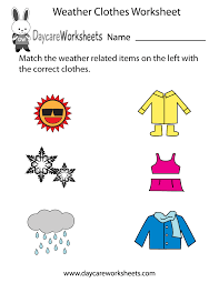best ideas of free printable weather worksheets for kindergarten