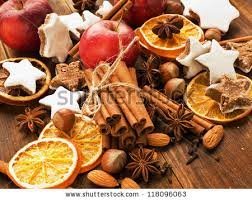Christmas Nuts Christmas Tree Made Nuts Spices Dried Stock Photo 117872920