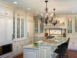Kitchen Island With Table Inspiring Traditional White Kitchen Design With Table And Wooden