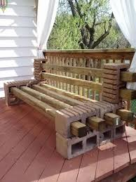Diy Wood Garden Chair by Diy Garden Benches And Tables Made With Cinder Blocks