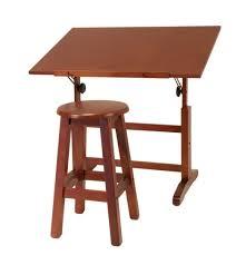 Table Cool Adjustable Height Drafting Table Artist Studio Wood