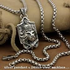 sterling silver necklace styles images Wholesale linsion 925 sterling silver lion king pendant sword jpg