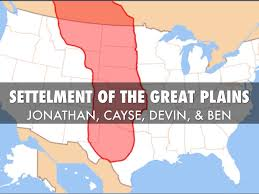 Great Plains Map Settlement Of The Great Plains By Jonathan Metzger