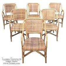 rattan dining room chairs ebay bamboo dining chairs 6 faux bamboo dining chairs bamboo dining