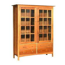 Solid Wood Bookcases With Glass Doors Unfinished Wood Bookcases Unfinished Furniture Bookcase With Glass