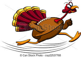 clip vector of thanksgiving turkey football illustration of