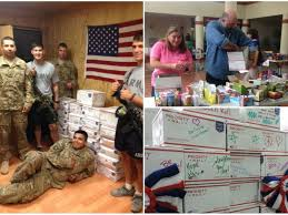 san mateo preparing care packages for troops how you can help