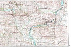 Iowa City Map Download Topographic Map In Area Of Davenport Cedar Rapids Iowa