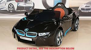 toddler motorized car bmw i8 12v kids ride on battery powered wheels car rc remote black