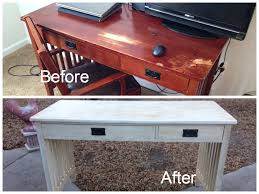 Painted Furniture Ideas Before And After Mission Style Desk Before And After Chalk Painted Distressed And
