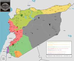 Syria War Map by Map Prediction For A Future Division For Syria Archicivilians