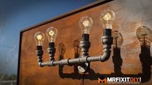 diy mason jar light with iron pipe diy industrial pipe lamp youtube