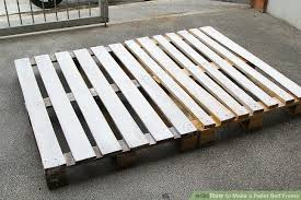 Making A Platform Bed From Pallets by How To Make A Pallet Bed Frame 6 Steps With Pictures Wikihow