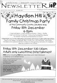 december 2015 newsletter and christmas events haydon hill