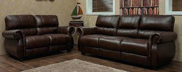 Leather 2 Seater Sofa Sale 3 Seater 2 Seater Leather Sofa Suite Chestnut Or Brown