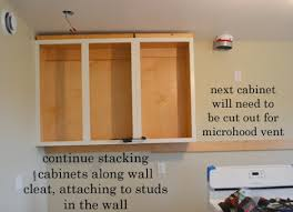 how to attach cabinets to wall installing kitchen cabinets momplex vanilla kitchen ana white