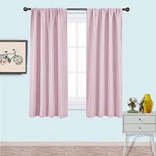 Baby Pink Curtains Nicetown Blackout Curtains For Room Nursery