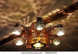 Coconut Shell Chandelier Ceiling L Made Coconut Shell Unique Stock Photo 689697463