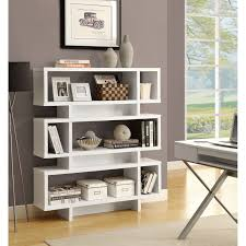 bookcase white wood furniture modern bookshelves kropyok home interior exterior designs