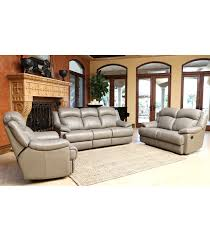 Leather Reclining Sofa Loveseat by Living Room Sets Clarence 3 Piece Leather Set