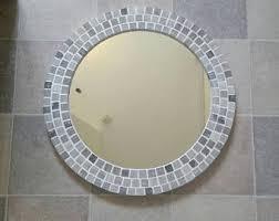 Mosaic Bathroom Mirrors by Mosaic Wall Mirror Brown Copper Rust Amber U0026 Cream