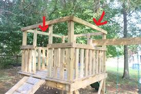 How To Build A Simple Wood Shed by How To Add A Roof To A Diy Wooden Playground Playset