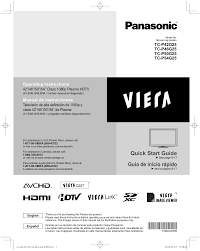 download free pdf for panasonic viera tc p50g25 tv manual