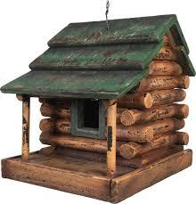 wooden log cabin wooden log cabin bird house 624 buffalo trader