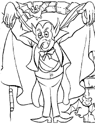 dracula coloring pages getcoloringpages