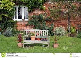 plants u0026 flowers in pots on wooden bench stock photo image 44837346