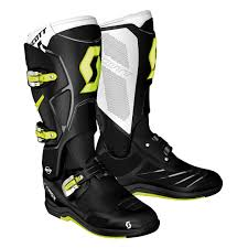 cheap motocross gear online scott 550 mx boot black yellow offroad boots retailer low price