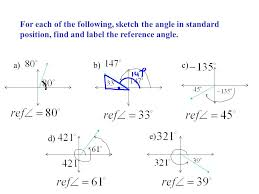 definition an angle is in standard position when its initial arm