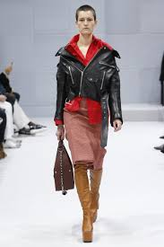 fall motorcycle jacket kendall jenner sports braided pigtails and vintage leather