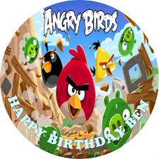 edible cake topper angry birds edible cake topper
