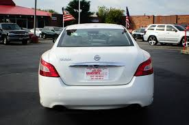 nissan car white 2009 nissan maxima white navigation sedan used car sale