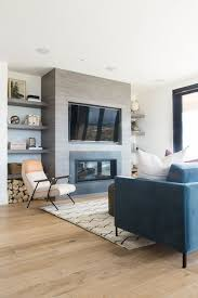 Living Room With Blue Sofa by Promontory Project U2014 Studio Mcgee