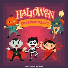 fun halloween party design vector download