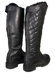 mens leather riding boots ladies mens horse riding fur lined yard country walking tall