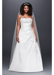 wedding dress up a line plus size wedding dress with lace up back david s bridal